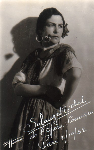 Solange Michel dans le rôle-titre de Carmen