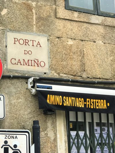 "Galician for the ""Camino gate"""