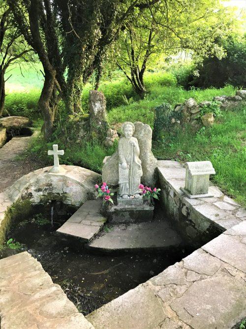 Shrine to Santiago as you leave Ponte Ferreira