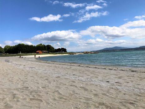 White sand beach of the Parque Natural de Carreirón