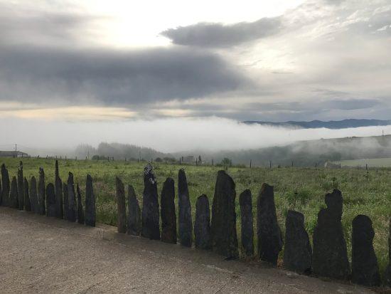 Slate fence line