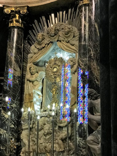 The Holy Eucharist on permanent display