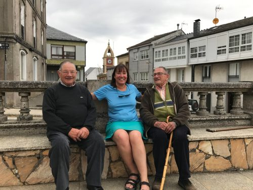 Irene with 2 local gentlemen from Fonsagrada