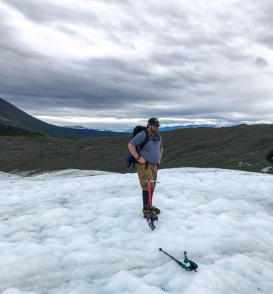 Billy on Root Glacier