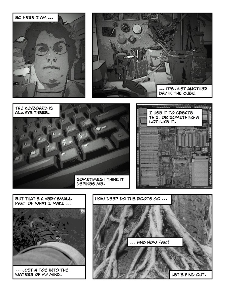 musings in grayscale comic #1