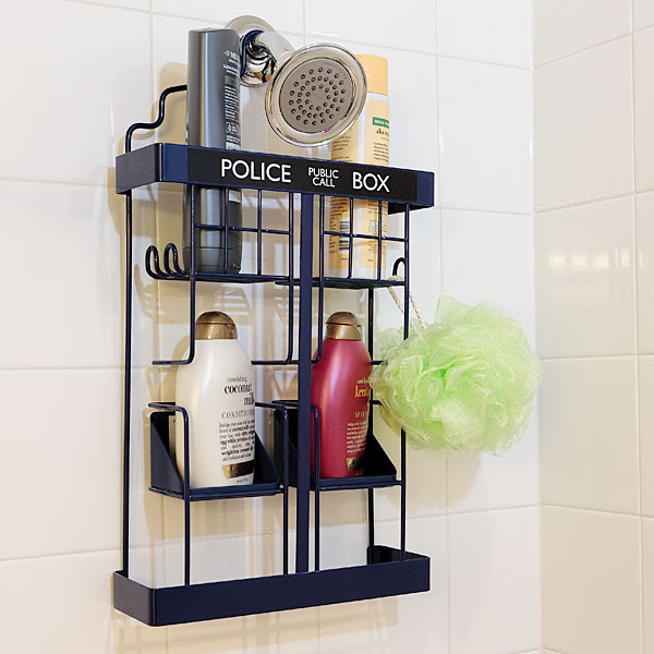 Adventures through Time and Space with a Tardis Shower Caddy  Musings of a Muse