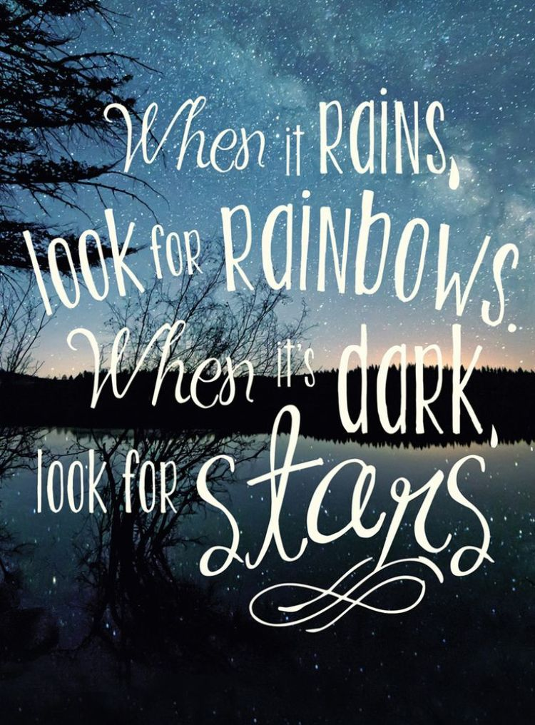 Rainbows and stars / inspirational quotes / Musings on Momentum