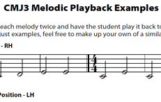 CMJV3: Melodic Playbacks
