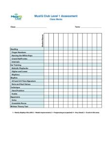 L1: Assessment Class Marks