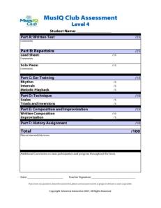 L4: Assessment No Group