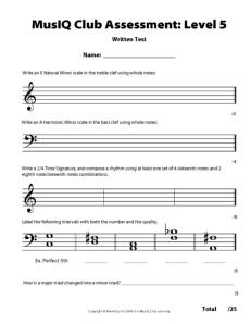 L5: Assessment Written Test