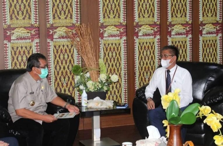Pjs Bupati Musi Rawas Terima Audiensi Pimpinan Bank Sumsel Babel Cabang Lubuklinggau dan Muara Beliti