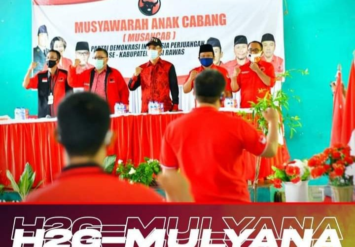 Musancab PDIP Muara Kelingi, Giri : Kader PDIP Mura Wajib Dukung H2G Mulya