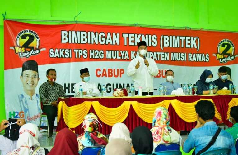 Bimtek di Sukakarya & BTS Ulu, Saksi TPS Paslon H2G-Mulya Siap Kawal Kemenangan