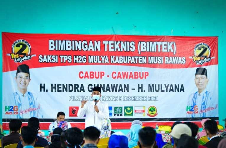 Semangat Saksi TPS Muara Kelingi Kawal Kemenangan H2G-Mulya