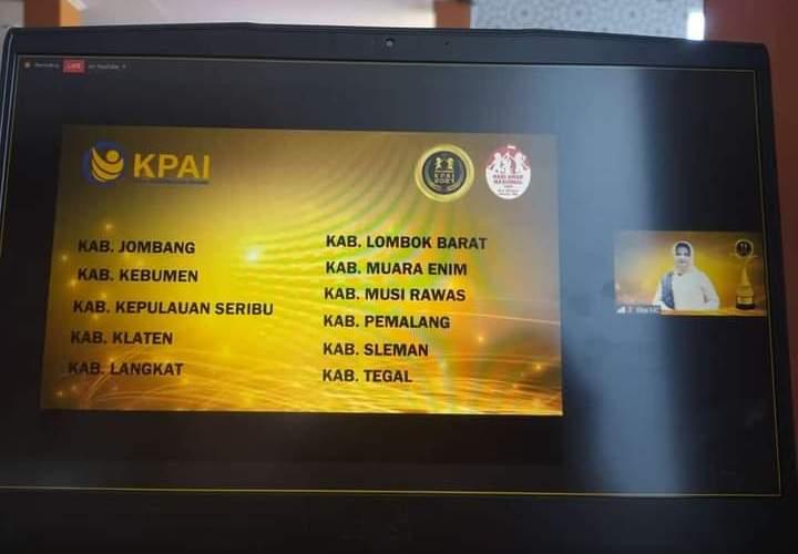 Pemkab Mura Raih Penghargaan Anugerah KPAI 2021