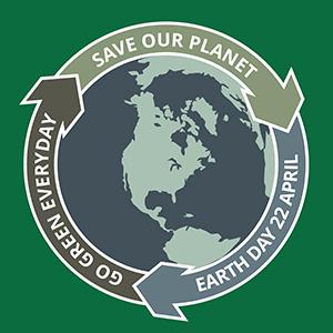 Earth day grunge badge