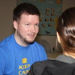MCC's Matt Grulke helps a student in the Tutoring Center