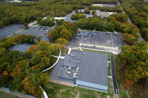 Aerial view of the MCC Health and Wellness Center