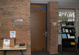 The Jayhawk Hub is located in Room 133, across from the Carr-Fles Planetarium.