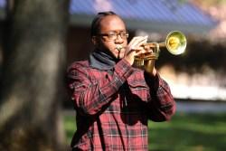 MCC student CeeJae Johnson plays Taps