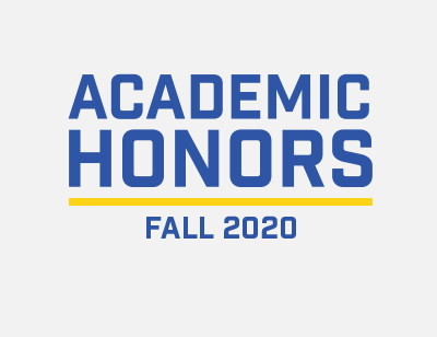 Academic Honors Fall 2020 Semester graphic