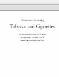 Fataawa regarding Tobacco and Cigarettes
