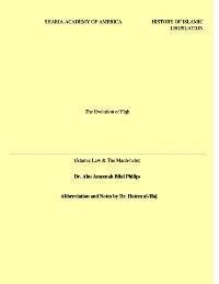Abbreviation of The Evolution of Fiqh