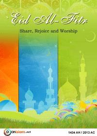 Eid Al-Fitr: Share, Rejoice and Worship