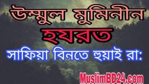 হযরত সাফিয়া বিনতে হুয়াই রা:
