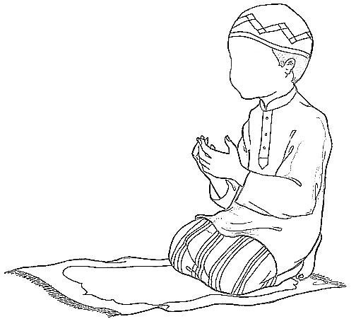 Sketch Of People Praying Coloring Pages