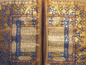 A handwritten copy of the Quran written by Aurangzeb