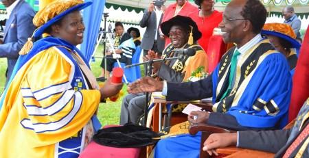 Dr. TM Twongyirwe receives her PhD Award