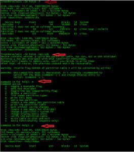 Linux fdisk 1