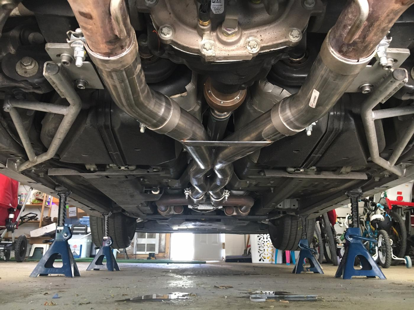 corsa double x pipe install 2015