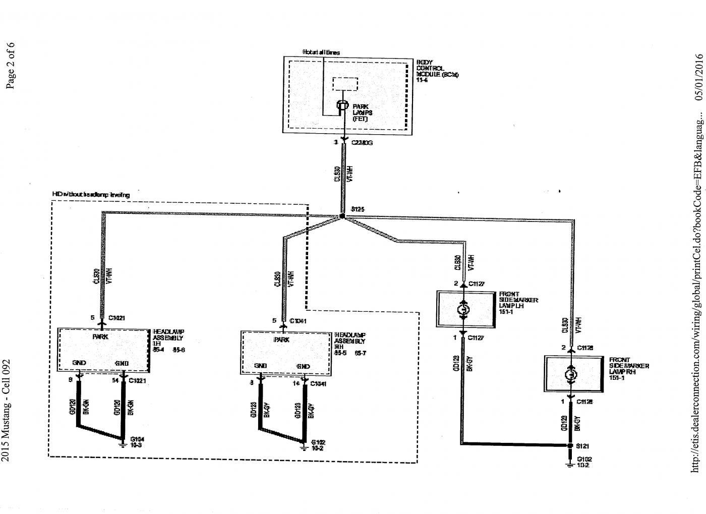 2015 mustang fuel filter location