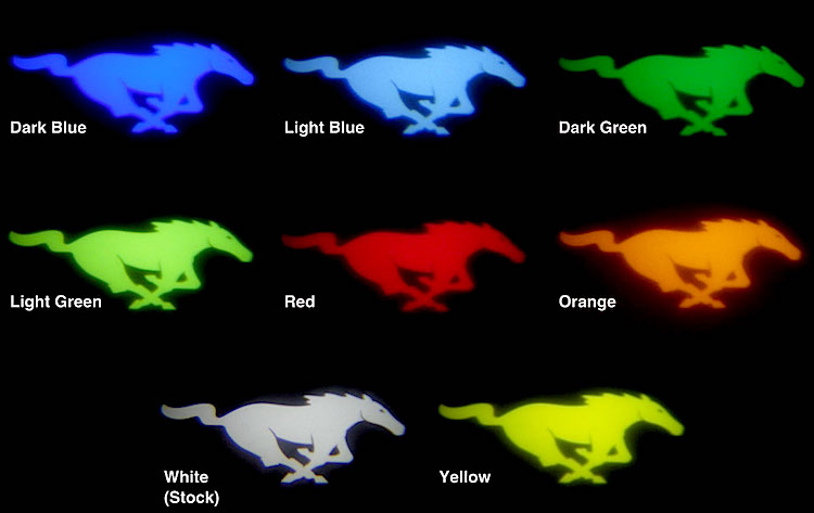 Customized 2015 Mustang Pony Projection Lights  50 Badges  2015 Mustang Forum News Blog
