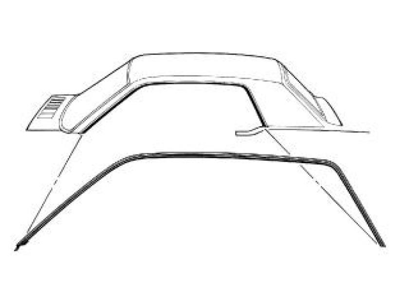 Scott Drake 1967-1968 Ford Mustang 67-68 Coupe Roof Rail