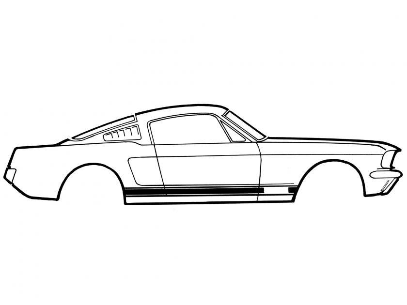 Scott Drake 1965-1966 Ford Mustang 65-66 GT Stripe Kit