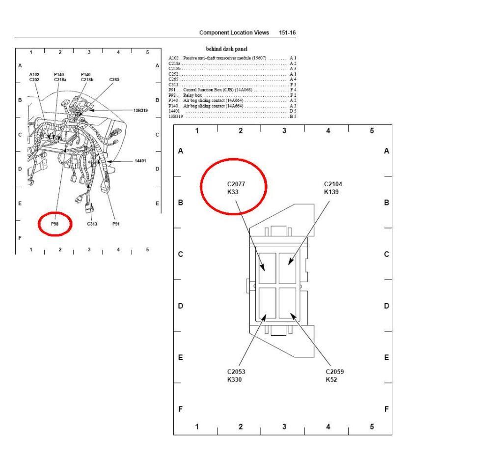 medium resolution of 2007 mustang horn fuse diagram
