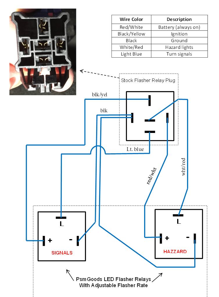 wiring diagram for motorcycle led indicators accessory relay flasher all data electronic turn signal