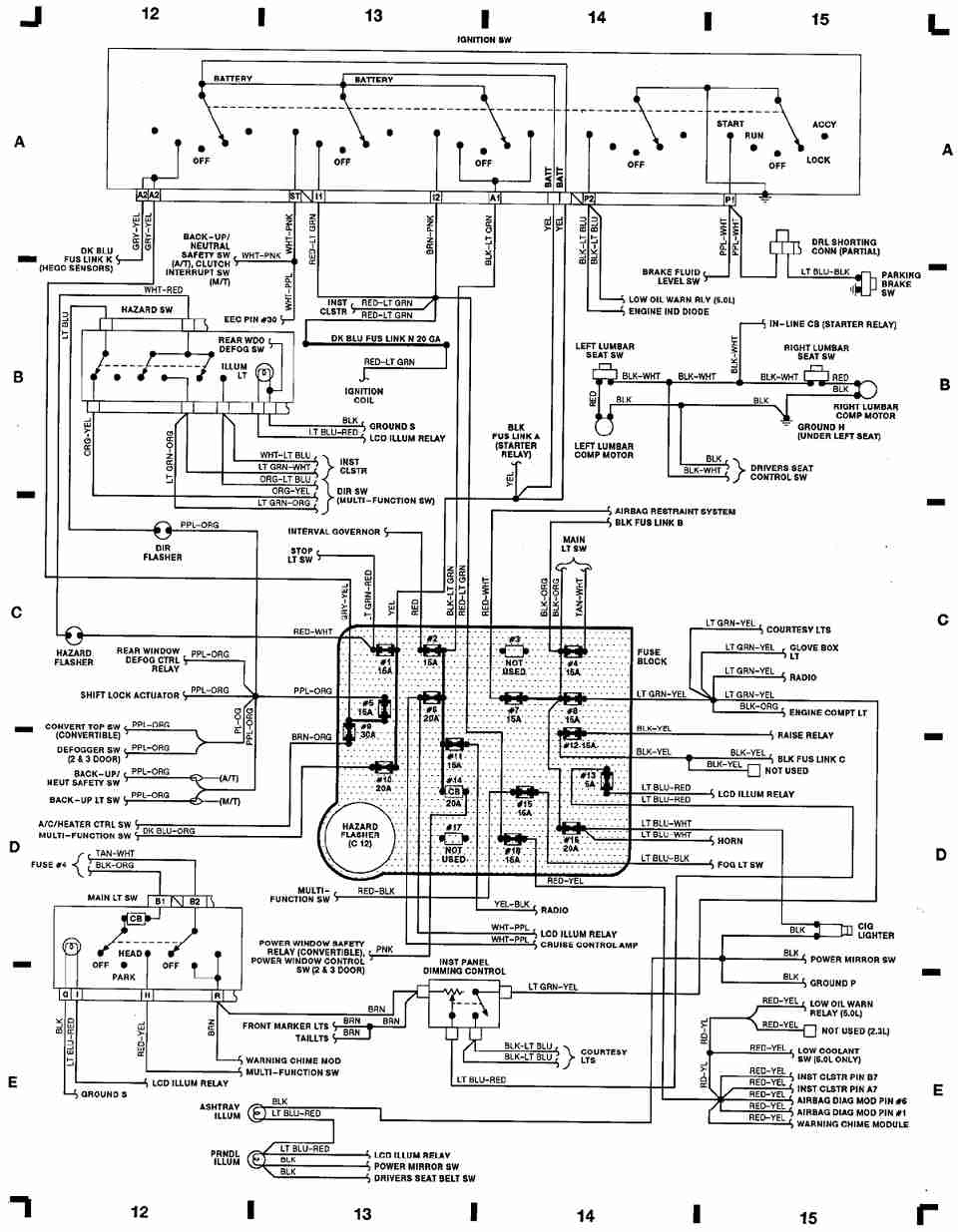 90 ford mustang wiring diagram picture