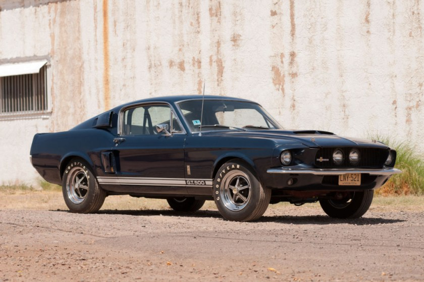 Black 1967 Shelby GT500 Mustang