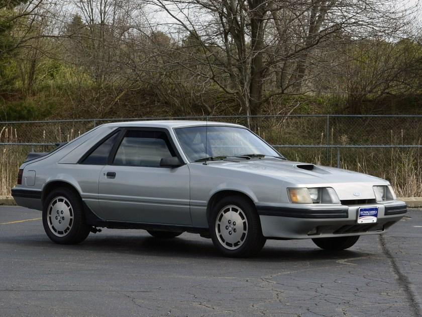 1984 Silver SVO Mustang