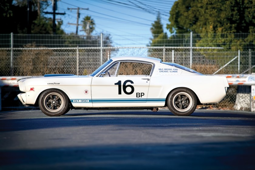 Side view of white 1965 GT350R