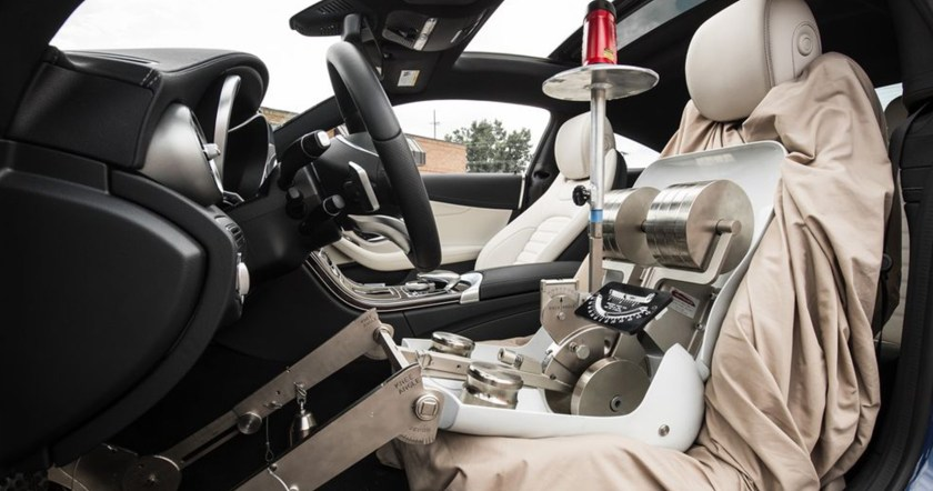 Testing car seat height