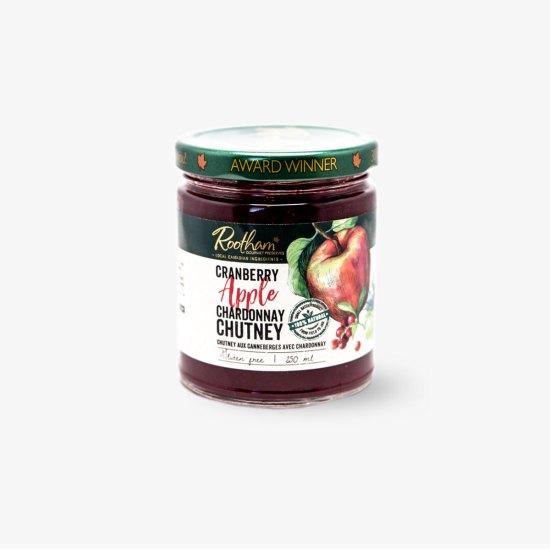 Rootham Gourmet Preserves Cranberry Apple Chardonnay Chutney