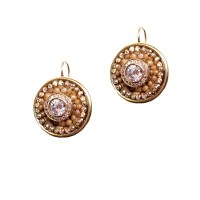 """Polished"" Vintage Classic Round Gold and Crystal Round ..."