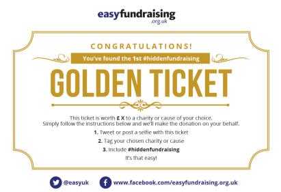 #hiddenfundraising golden ticket