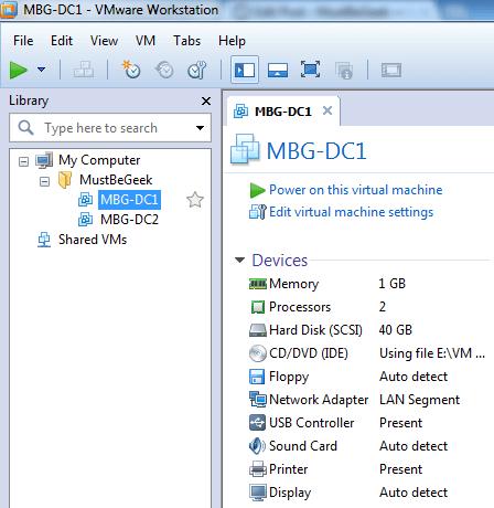 Create LAN connection in vmware workstation